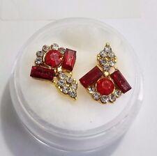 2 piece Deco Red elegant nail art charm set