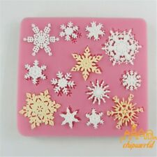 3D Christmas Snowflake Silicone Mould Fondant Cake Mold Baking Decor Sugar Craft