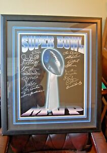 19 Super Bowl MVP Autographs on 16x20 Lombardi Trophy Picture RARE MUST SEE!