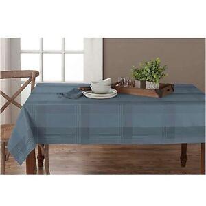 60in x 140in Denim Microfiber Tablecloth | Origins| Seats 12-14 | OBLONG