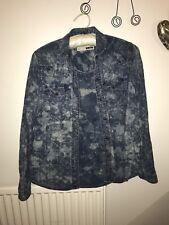Women's Size 8 Blue Acid Wash Denim Shirt From Moro Denim At Topshop