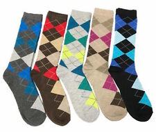 5 Pairs Mens Argyle Dress Socks NEW Fashion Casual Colors #BURUKA Size: 10-13