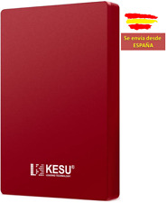 "KESU. Disco Duro Externo Portátil de 2,5"" USB 3.0 de 120 160 250 320 500GB. ROJO"