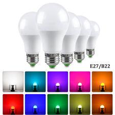 E27 B22 5W 10W 15W RGB LED 16 Multi Color Magic Lamp Light Bulb+Wireless Remote
