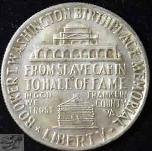 1946 Booker T Washington Half, Commemorative Silver, Almost Uncirculated+  C5506