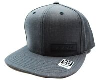 CCM  C71516 Leather Patched Logo Adjustable Flat Bill Gray Hockey Cap Hat