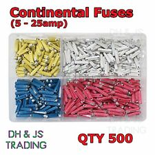 Assorted Box Continental Fuses 5 8 16 25 Torpedo Ceramic Fuse Bullet Classic Car