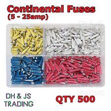 Assorted Box Continental Fuses 5 8 16 25 Torpedo Ceramic Fuse Bullet Classic Car