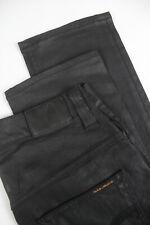 RRP $165 NUDIE Jeans THIN FINN BACK 2 BLACK Men's W31/L30 Org. Jeans 2426_mm