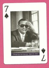 Sam Giancana Mobsters Playing Card