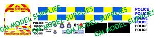 00 1:76 Waterslide Transfers Ford Transit LWB- Police Dog Unit Conversion Kit