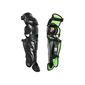 All-Star Sports S7 Axis Pro Adult Baseball Catcher Padded Leg Guards, Black