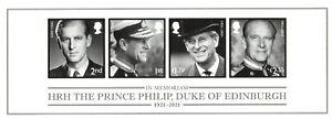 2021 GB HRH Duke Of Edinburgh Mini Sheet NON Barcoded 24/11/21 +FREE CARRIER