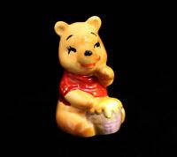 Disneyland Winnie the Pooh Ceramic Figurine 1960's Hunny Pot Walt Disney Prod