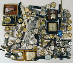 HUGE LOT OF WATCHES FOR PARTS OR REPAIR SELLING ALL AS IS AS SHOWN !!!