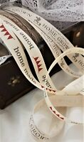 Berisfords HOME MADE & HOME GROWN ribbon - 15mm -  2 designs & various lengths