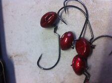 NEW! Gene Larew  Biffle Hardhead Jig with 3/4-Ounce red glitter #4 hook