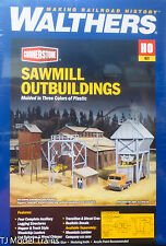 Walthers HO #933-3144 Sawmill Outbuildings -- Kit Form
