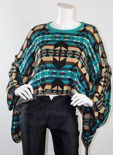 Pendleton Meets Opening Ceremony Batwing Kimono Poncho Aztec Cape Sweater Top M