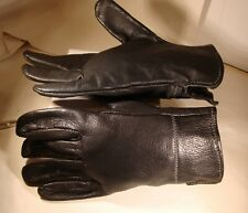 Men's Unlined, Unbranded Black Leather Gloves – 'Size 9' – Excellent Condition