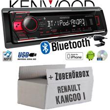 Kenwood Autoradio für Renault Kangoo 1 Bluetooth Radio KFZ Einbauset CD MP3 USB