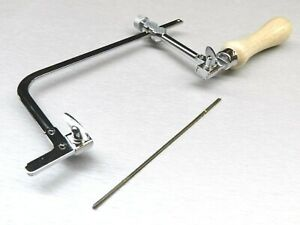 "Saw Frame Adjustable Jewelers & Craft 3"" & 12pcs Saw Blades Jewelry Making Hobby"