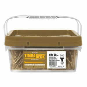DECKING SCREWS TIMBADECK DOUBLE-COUNTERSUNK CARBON DECKING SCREWS 4.5 X 65mm