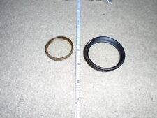 2 VINTAGE BRASS CAMERA LENS RINGS WITH LENS GLASS