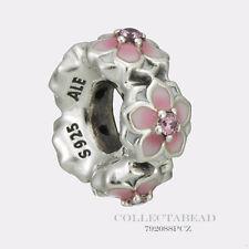 Authentic Pandora Silver Magnolia Bloom Enamel Spacer 792088PCZ *SPRING 2017