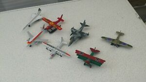 Collection bundle joblot 7x diecast model Aeroplanes (Mainly) Matchbox Unboxed