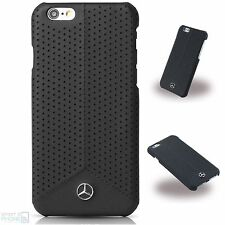 Mercedes Echtleder perforiert iPhone 6,6s Cover Hard Case Hülle Back Cover