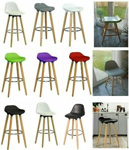 Breakfast Bar Stool Compact Kitchen Padded Stools High Chair Seat Home Barstool
