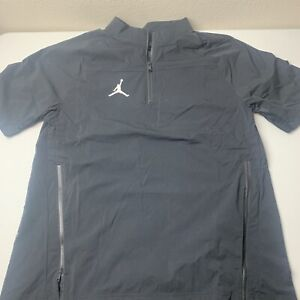 Jordan Dri-Fit Woven Short Sleeve 1/2 Zip Training Pullover Men's Med CD2220-010