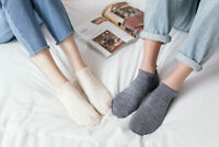 5pairs Men's Sport Ankle Socks Crew Quarter Dress Cotton Blend Socks Solid Sock