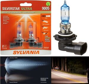Sylvania Silverstar Ultra 9005 HB3 65W Two Bulbs Head Light High Beam Replace OE