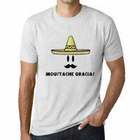 ULTRABASIC - Homme T-shirt Graphique Moustache Gracias