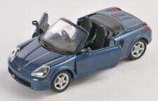 Spedizione LAMPO TOYOTA MR 2 SPYDER Blu/Blue Welly Modello Auto 1:34 NUOVO & OVP