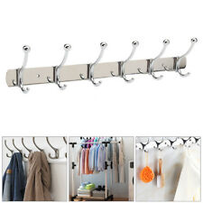 6 to 12 Hooks Coat Hat Clothes Robe Holder Rack Hook Wall Hanger stainless steel