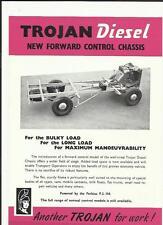 Troya Diesel Nuevo sistema de control de chasis de camión Camión brochure/sheet 1958 1959