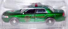 1/64 Greenlight GREEN MACHINE 2008 Ford Crown Victoria Fire Chief Car Apple Blos