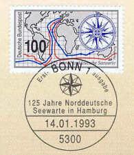 BRD 1993: Seewarte Hamburg Nr. 1647 mit Bonner Ersttagssonderstempel! 1A! 1905