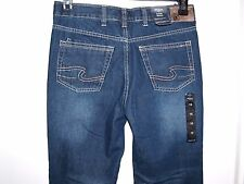 NEW Silver Jeans Zane BB Mens/Youth Size 16 Boot Cut Dark Wash Jeans