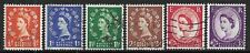 SG561-6 1957 WILDINGS SET - GRAPHITE LINED ISSUE, GOOD/FINE USED