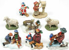 LOT+OF+8+RIGHT+AID+CHRISTMAS+HOLIDAY+FIGURINES+CHILDREN+SANTA+WOLVES+SHEEP+LADY