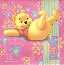 Bild Canvas Leinwandbild 15 x 15 cm Winnie the Pooh Disney Pink Holzrahmen