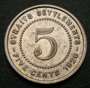 STRAITS SETTLEMENTS (British) 5 Cents 1920 - Copper/Nickel - George V. - 1324