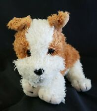 """Applause Tan and White """"Precious Pup Roscoe"""" Plush Puppy Dog"""