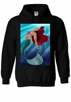 Disney Mermaid Ariel Princess Hoodie Sweatshirt Jumper Men Women Unisex 366
