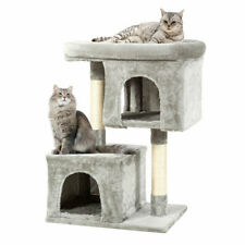 New listing Gymax Luxury Cat Tree Cat Tower For Large Cats W/Double Cozy Plush Condos &