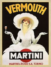 vintage retro style Vermouth Martini poster image metal sign wall door plaque